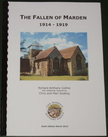 The Fallen of Marden 1914-1919, by Richard Anthony Collins